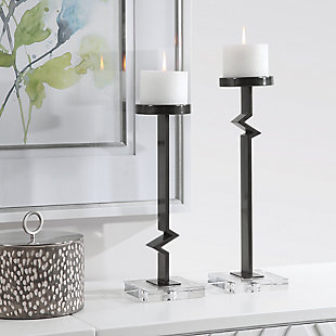 Uttermost Daelan Contemporary Candleholders (Set of 2), , rollover