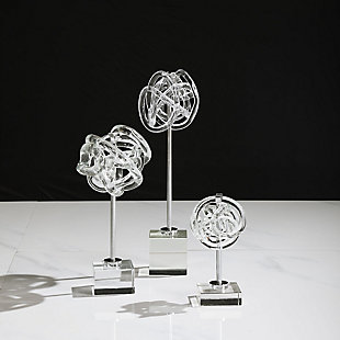 Uttermost Neuron Glass Table Top Sculptures (Set of 3), , rollover