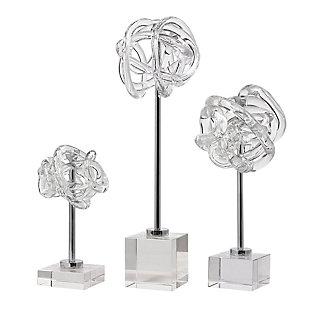Uttermost Neuron Glass Table Top Sculptures (Set of 3), , large