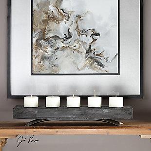 Uttermost Callum Wooden Candleholder, , rollover