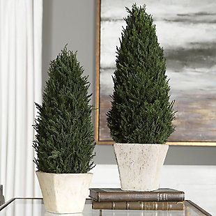 Uttermost Cypress Cone Topiaries (Set of 2), , rollover