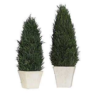 Uttermost Cypress Cone Topiaries (Set of 2), , large