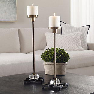 Uttermost Montag Brass Candleholders (Set of 2), , rollover