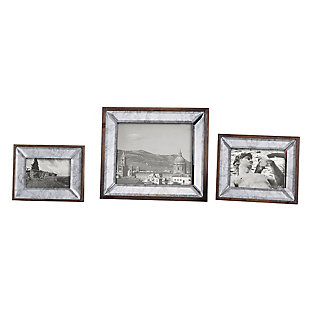 Uttermost Daria Antique Mirror Photo Frames (Set of 3), , large