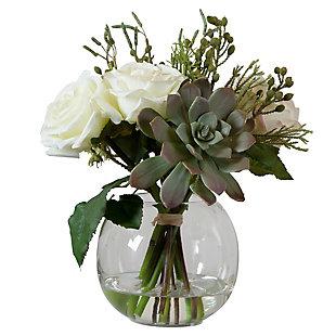 Uttermost Belmonte Floral Bouquet and Vase, , large