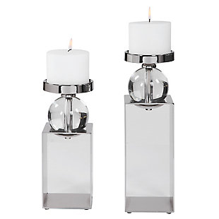 Uttermost Lucian Nickel Candleholders (Set of 2), , large