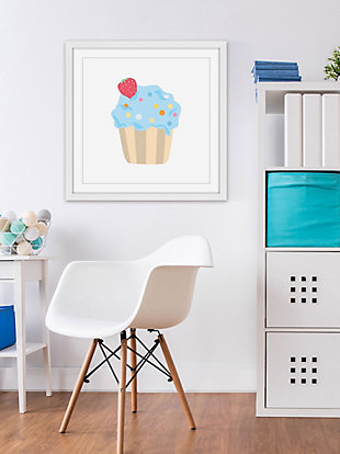 Home Accents Blue Cupcake Framed Painting Print, , rollover