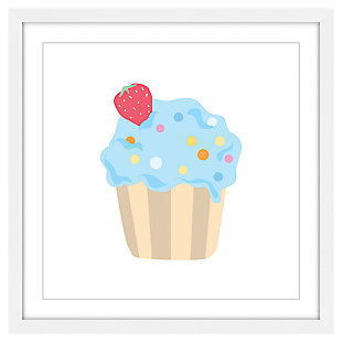 Home Accents Blue Cupcake Framed Painting Print, , large