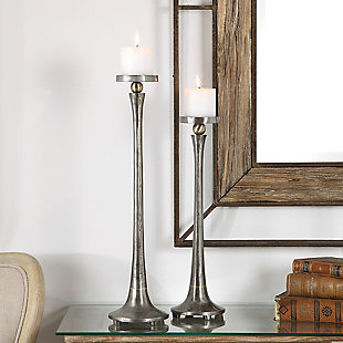 Uttermost Aliso Cast Iron Candleholders (Set of 2), , rollover