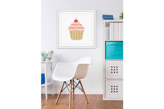 Home Accents Cupcake Cherry Framed Painting Print, , large
