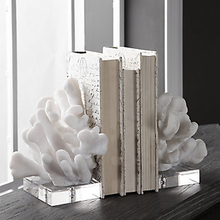 Uttermost Charbel White Bookends (Set of 2), , rollover
