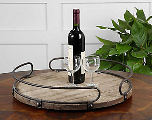 Uttermost Acela Round Wine Tray, , rollover