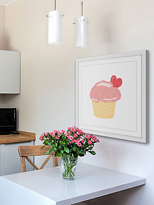 Home Accents Cupcake Heart Framed Painting Print, , large