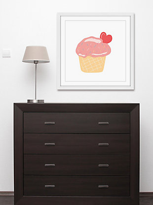 Home Accents Cupcake Heart Framed Painting Print, , rollover