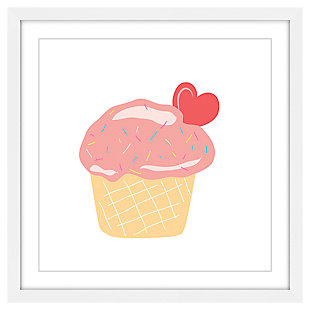 Home Accents Cupcake Heart Framed Painting Print
