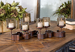 Uttermost Ribbon Metal Candleholders, , rollover