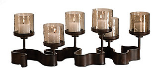 Uttermost Ribbon Metal Candleholders, , large