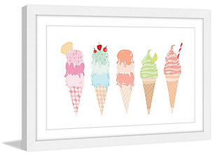 Home Accents Ice Cream Cones Framed Painting Print, , rollover