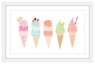 Home Accents Ice Cream Cones Framed Painting Print, , large