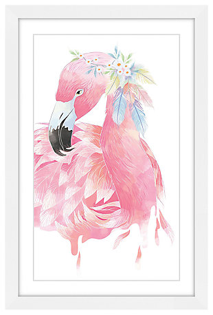 Home Accents Kids Pink Flamingo Framed Painting Print, , large