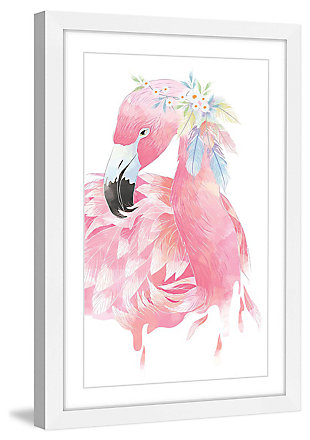 Home Accents Pink Flamingo Framed Painting Print, , large