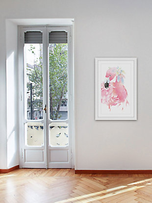 Home Accents Pink Flamingo Framed Painting Print, , rollover