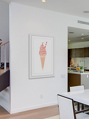 Home Accents Pink Cone Framed Painting Print, , rollover