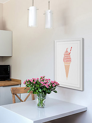 Home Accents Pink Cone Framed Painting Print, , large