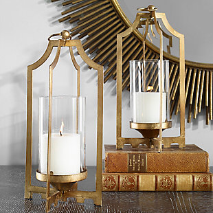 Uttermost Lucy Gold Candleholders (Set of 2), , rollover