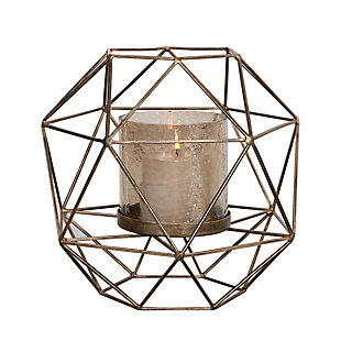 Uttermost Myah Geometric Gold Candleholder, , large