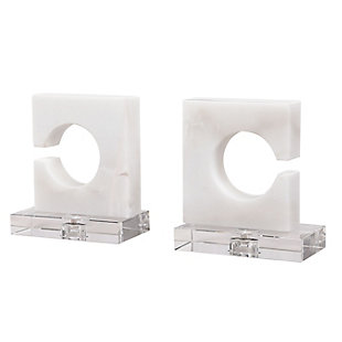 Uttermost Clarin White and Gray Bookends (Set of 2), , large