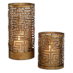 Uttermost Ruhi Hurricane Candleholders (Set of 2), , large