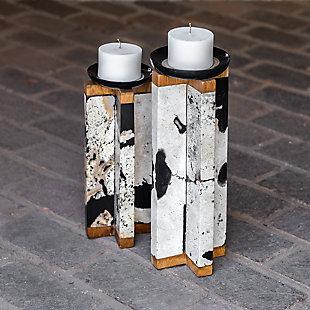 Uttermost Illini Stone Candleholders (Set of 2), , rollover