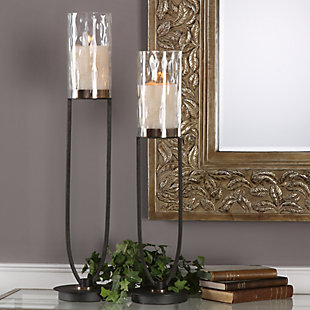 Uttermost Durga Iron Work Candleholders (Set of 2), , rollover