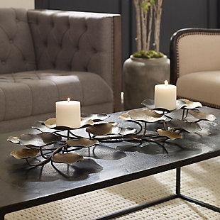 Uttermost Lying Lotus Metal Candleholders, , rollover