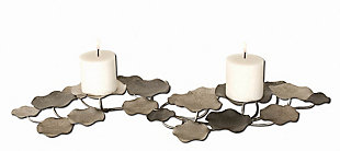 Uttermost Lying Lotus Metal Candleholders, , large