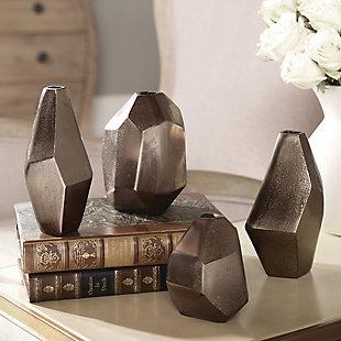 Uttermost Amna Matte Nickel Vases (Set of 4), , rollover