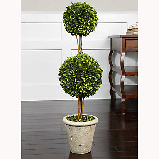 Uttermost Two Sphere Topiary Preserved Boxwood, , rollover