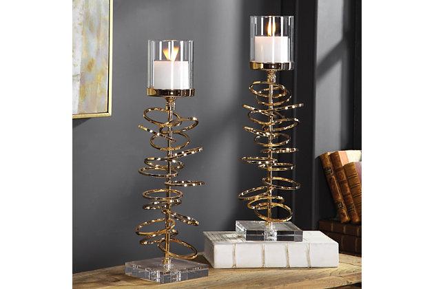 Uttermost Tala Rose Gold Candleholders (Set of 2), , large