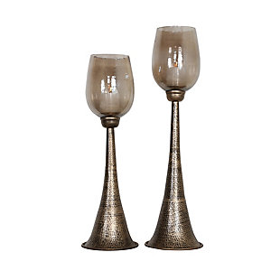 Uttermost Badal Antiqued Gold Candleholders (Set of 2), , large