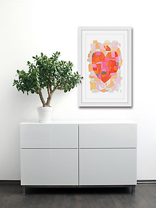Home Accents Splash of Heart Framed Painting Print, , rollover