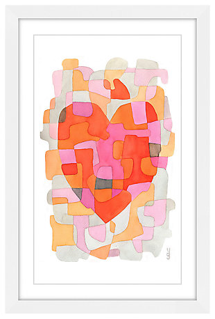 Home Accents Splash of Heart Framed Painting Print, , large
