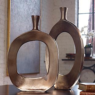 Uttermost Kyler Textured Bronze Vases (Set of 2), , rollover
