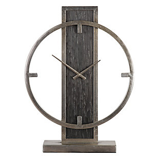 Uttermost Nico Modern Desk Clock, , large
