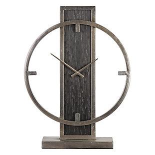 Uttermost Nico Modern Desk Clock, , large