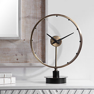 Uttermost Davy Modern Table Clock, , rollover