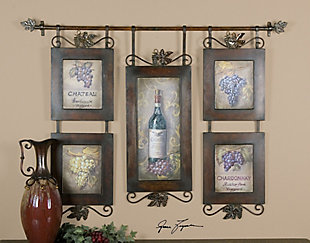 Uttermost Hanging Wine Framed Art, , rollover