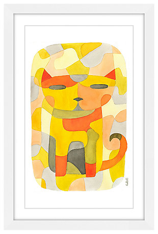 Home Accents Cat I Framed Painting Print, , large