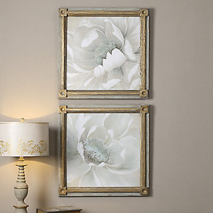 Uttermost Winter Blooms Floral Art Set of 2, , rollover