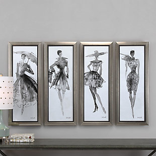 Uttermost Fashion Sketchbook Art, Set of 4, , rollover